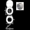 Bath Duck 3D Wc-Ülőke - Mdf - Rozsdamentes Acél Zsanérokkal - Fekete Kövek