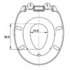 Bath Duck Wc-Ülőke - Családi - Gyermek És Felnőtt Használatra - Réz Zsanérokkal - MDF - Fa Hatású - 1