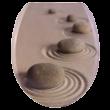 Bath Duck Wc-Ülőke - Duroplaszt - Rozsdamentes Acél Zsanérokkal - Kövek
