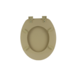 Bath Duck Wc-Ülőke - Mdf Színes - Műanyag Zsanérokkal - 2a Bézs