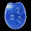 Bath Duck Wc-Ülőke - Mdf - Mintás - Műanyag Zsanérokkal - 1 Delfin