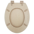 Bath Duck Wc-Ülőke - Mdf - Fahatású - Műanyag Zsanérokkal - 2 Fa Hatású