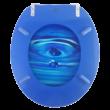 Bath Duck Wc-Ülőke - Mdf - Mintás  - Rozsdamentes Acél Zsanérokkal - Vízcsepp