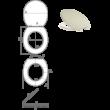 Bath Duck Wc-Ülőke - Soft Close - Lecsapódásmentes Zsanérokkal