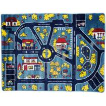 Magic Home Gyerekszőnyeg 134x180cm - Traffic - Blue