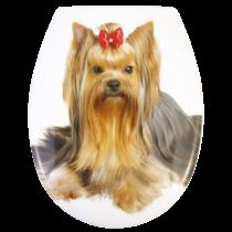 Bath Duck Wc-Ülőke - Rozsdamentes Acél Zsanérokkal - Yorkshire Terrier (Yorki)