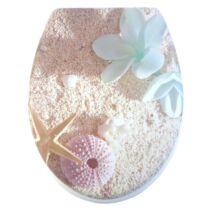 Bath Duck Wc-Ülőke - Mdf - Mintás - Műanyag Zsanérokkal - Strand