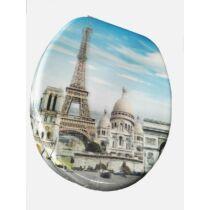 Bath Duck 3D Wc-Ülőke - Mdf - Rozsdamentes Acél Zsanérokkal - Párizs