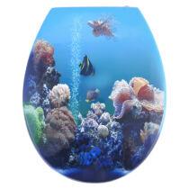 Bath Duck Wc-Ülőke - Mdf - Mintás - Cink Zsanérokkal - Aquarium