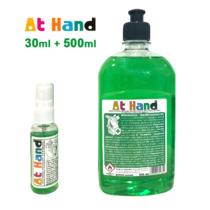 At Hand Kézfertőtlenítő Szett - 30ml Spray + 500ml Utántöltő