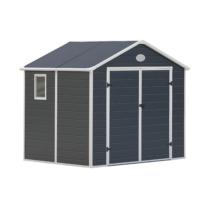 G21 Kerti Ház / Tároló - Műanyag - Szürke - 241x190cm (PAH 458)