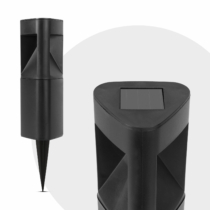 Garden of Eden LED-es szolár lámpa - háromszög alakú, fekete, műanyag