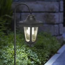 Garden of Eden LED-es szolár kandeláber - felakasztható - fekete - melegfehér