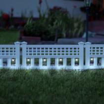 Garden of Eden LED-es szolár kerítés - 58 x 36 x 3,5 cm - hidegfehér - 4 db / szett