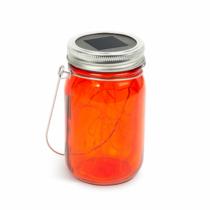 Garden of Eden Felakasztható üveg szolár lámpa - melegfehér microLED-ekkel - kék, piros, sárga