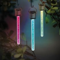 Garden of Eden RGB LED-es szolár lámpa - buborékos - 175 x 30 mm