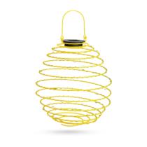 Garden of Eden LED-es szolár spirál gömb lámpa - melegfehér - 22 cm - sárga színben