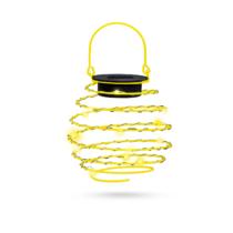 Garden of Eden LED-es szolár spirál gömb lámpa - melegfehér - 12 cm - sárga színben