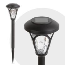 Garden of Eden LED-es szolár lámpa - leszúrható, mintás plexivel - fekete - 300 mm
