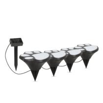 Garden of Eden LED-es szolár lámpa - kutya lábnyom, leszúrható - műanyag - fekete - 360 cm