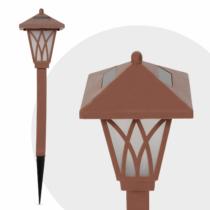 Garden of Eden LED-es szolár lámpa - RGB - barna - műanyag