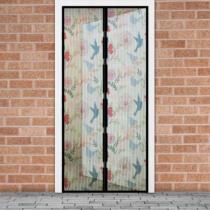 Delight Szúnyogháló függöny ajtóra -mágneses- 100 x 210 cm - madár mintás