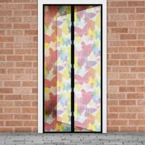 Delight Szúnyogháló függöny ajtóra -mágneses- 100 x 210 cm - színes pillangós