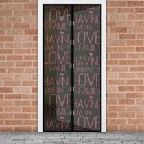 """Delight Szúnyogháló függöny ajtóra -mágneses- 100 x 210 cm - """"Love"""""""