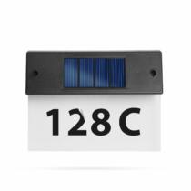 Garden of Eden Szolár házszámfény - átlátszó plexi - hidegfehér LED - 18 x 20 cm