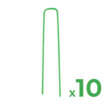 Globiz Leszúró tüske műfűhöz - fém - zöld - 3 x 15 cm - 10 db / csomag