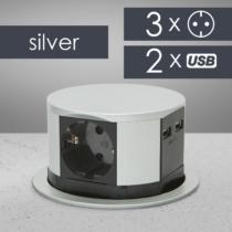 Delight Elosztó - rejtett, 3-as + USB