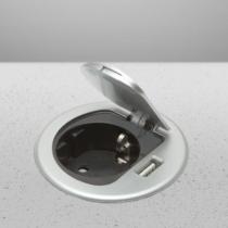 Delight Rejtett - beépíthető konnektor + USB