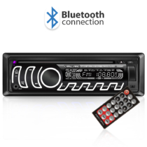 Carguard CD/MP3 fejegység - Bluetooth, FM tuner, USB, SD, AUX - változtatható háttérvilágítás