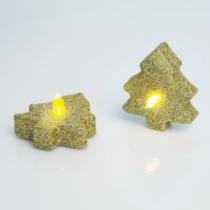 Family Christmas LED teamécses - fenyőfa - 2 db / csomag