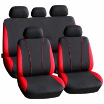 Carguard Autós üléshuzat szett - piros / fekete - 9 db-os - HSA002