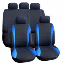 Carguard Autós üléshuzat szett - kék / fekete - 9 db-os - HSA006