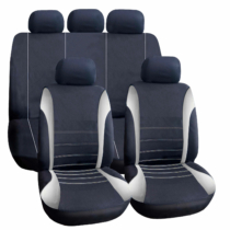 Carguard Autós üléshuzat szett - szürke / fekete - 9 db-os - HSA005