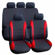 Carguard Autós üléshuzat szett - piros / fekete - 9 db-os - HSA007