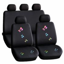 Carguard Autós üléshuzat szett - pillangós / fekete - 9 db-os - HSA009