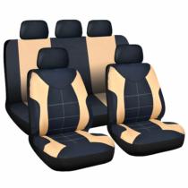 Carguard Autós üléshuzat szett - drapp / fekete - 9 db-os - HSA008