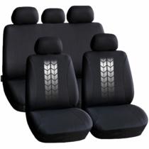 Carguard Autós üléshuzat szett - szürke / fekete - 9 db-os - HSA004