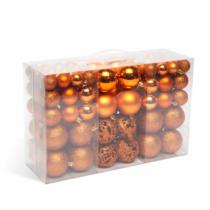 Karácsonyi gömbdísz szett - 100 db / csomag - bronz