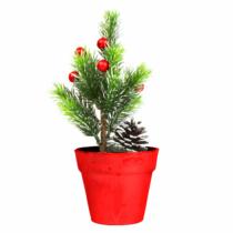 Family Christmas Műfenyő - mini - piros - 20 cm