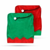 Family Christmas Székdekor - manósapka - piros / zöld
