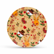 Family Christmas Karácsonyi tálca - fém - 31 cm