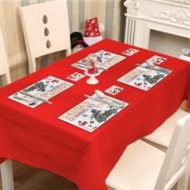 Family Christmas Tányér és poháralátét - mikulás - 8 db / csomag