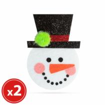 Family Christmas Karácsonyfadísz szett - hóember - 2 db / csomag