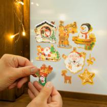 Family Christmas Karácsonyi matrica szett - rózsaszín alap - 3 lap