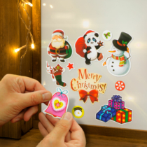 Family Christmas Karácsonyi matrica szett - sötétzöld alap - 3 lap