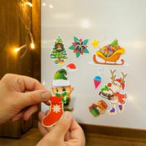 Family Christmas Karácsonyi matrica szett - kék alap - 3 lap